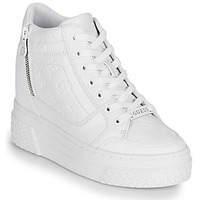 Chaussures Femme Baskets montantes Guess RIGGZ Blanc