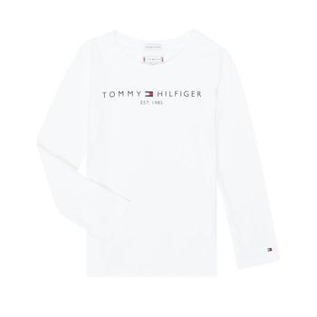 Vêtements Fille T-shirts manches longues Tommy Hilfiger KG0KG05247-YBR-J Blanc