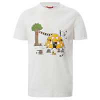 Vêtements Garçon T-shirts manches courtes The North Face GRAPHIC TEE Blanc