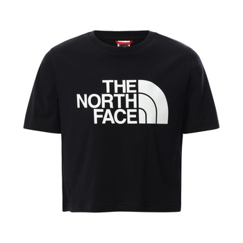 Vêtements Fille T-shirts manches courtes The North Face EASY CROPPED TEE Noir