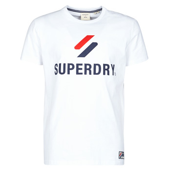 Vêtements Homme T-shirts manches courtes Superdry SPORTSTYLE CLASSIC TEE Blanc