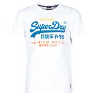 Vêtements Homme T-shirts manches courtes Superdry VL TRI TEE 220 Blanc