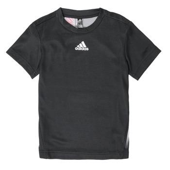 Vêtements Garçon T-shirts manches courtes adidas Performance B A.R. TEE Noir