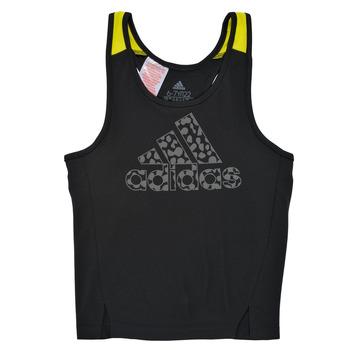 Vêtements Fille Débardeurs / T-shirts sans manche adidas Performance LEO Noir