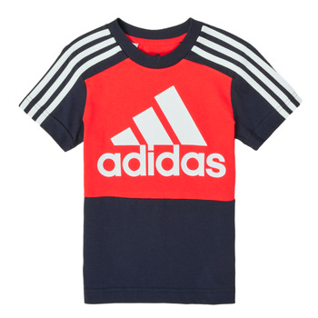 Vêtements Garçon T-shirts manches courtes adidas Performance CARTAB Rouge / Marine