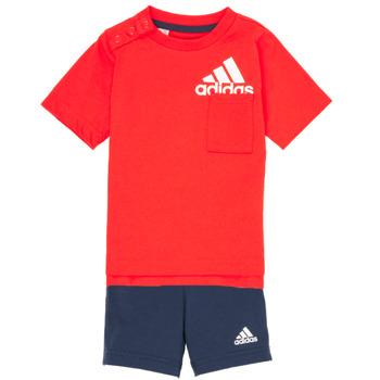 Vêtements Garçon Ensembles enfant adidas Performance BLOOMS Rouge / Noir