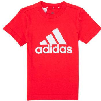 Vêtements Garçon T-shirts manches courtes adidas Performance B BL T Rouge