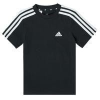 Vêtements Garçon T-shirts manches courtes adidas Performance B 3S T Noir