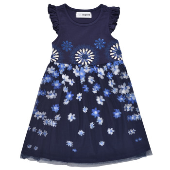 Vêtements Fille Robes courtes Desigual TRENIA Marine