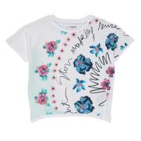 Vêtements Fille T-shirts manches courtes Desigual KAMILA Blanc
