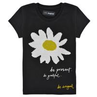 Vêtements Fille T-shirts manches courtes Desigual ANNILEA Noir