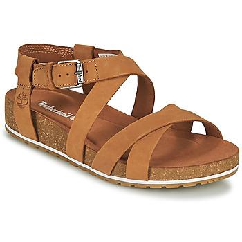 Chaussures Femme Sandales et Nu-pieds Timberland MALIBU WAVES ANKLE Cognac