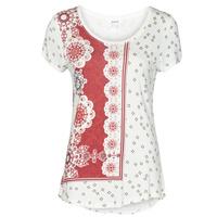 Vêtements Femme T-shirts manches courtes Desigual ESTAMBUL Blanc
