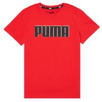 Vêtements Garçon T-shirts manches courtes Puma ALPHA GRAF TEE Rouge
