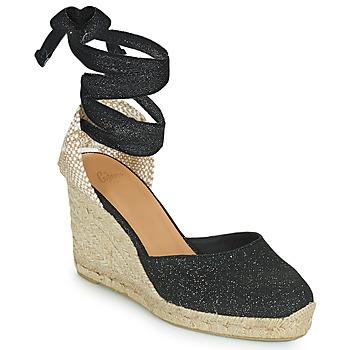 Chaussures Femme Sandales et Nu-pieds Castaner CARINA Noir / Doré
