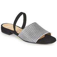 Chaussures Femme Sandales et Nu-pieds Perlato 11117-YORK-ARGENT-CAM-NOIR Noir / Argent
