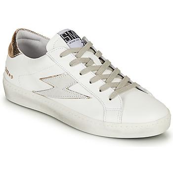 Chaussures Femme Baskets basses Semerdjian CATRI Blanc / Doré