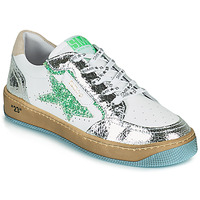 Chaussures Femme Baskets basses Semerdjian ARTO Blanc / Argenté / Vert