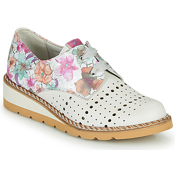 Chaussures Femme Derbies Dorking TETRIS Blanc / Multicolore