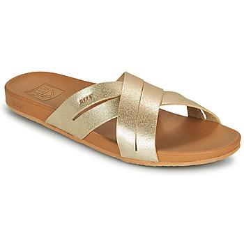 Chaussures Femme Claquettes Reef CUSHION SPRING BLOOM Doré