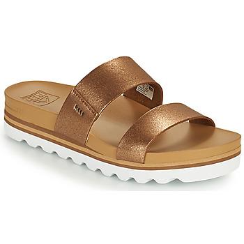 Chaussures Femme Claquettes Reef CUSHION VISTA HI Marron