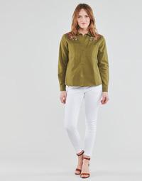 Vêtements Femme Pantalons 5 poches Freeman T.Porter ALEXA CROPPED S-SDM Blanc
