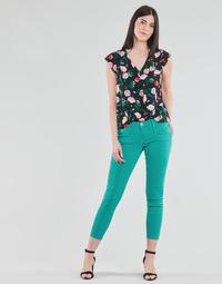 Vêtements Femme Pantalons 5 poches Freeman T.Porter ALEXA CROPPED NEW MAGIC COLOR viridian green
