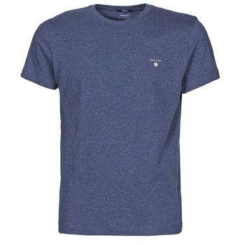 Vêtements Homme T-shirts manches courtes Gant THE ORIGINAL T-SHIRT MARINE MELANGE
