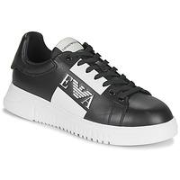 Chaussures Homme Baskets basses Emporio Armani MALTA Noir / Blanc