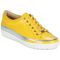 Chaussures Femme Baskets basses Caprice 23654-613 Jaune / Argenté