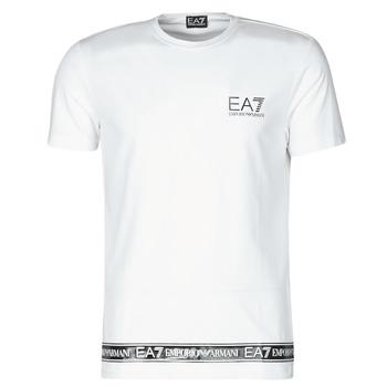 Vêtements Homme T-shirts manches courtes Emporio Armani EA7 KIHAT Blanc