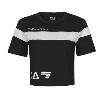 Vêtements Femme T-shirts manches courtes Emporio Armani EA7 THINEA Noir / Blanc