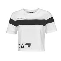 Vêtements Femme T-shirts manches courtes Emporio Armani EA7 THINEA Blanc / Noir