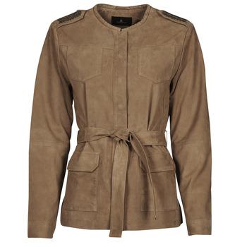 Vêtements Femme Vestes en cuir / synthétiques One Step DITA Cognac