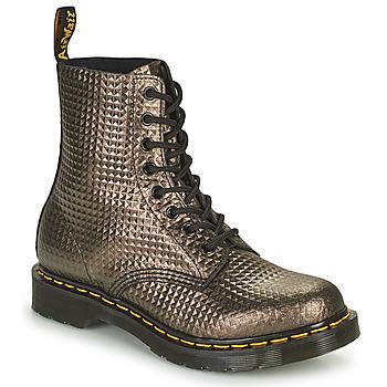 Chaussures Femme Boots Dr Martens 1460 PASCAL Taupe Doré