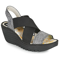 Chaussures Femme Sandales et Nu-pieds Fly London YAJI Noir / Blanc