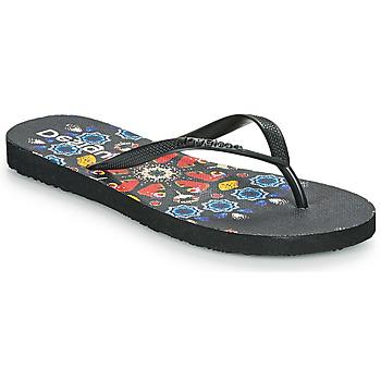 Chaussures Femme Tongs Desigual FLIP FLOP BUTTERFLY Noir