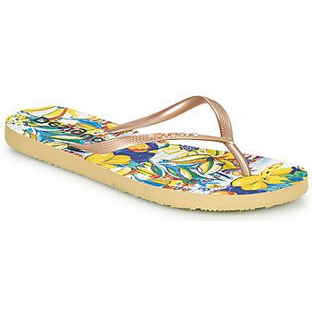 Chaussures Femme Tongs Desigual FLIP FLOP TROPICUBAN Doré