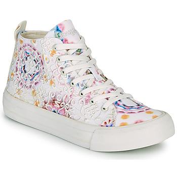 Chaussures Femme Baskets montantes Desigual BETA LACE TIE DYE Blanc