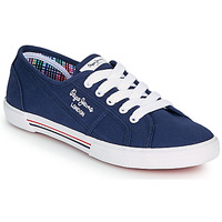Chaussures Femme Baskets basses Pepe jeans ABERLADY ECOBASS Marine