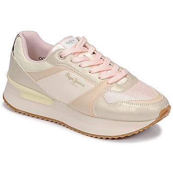 Chaussures Femme Baskets basses Pepe jeans RUSPER EVE Blanc / Leopard