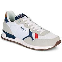 Chaussures Homme Baskets basses Pepe jeans BRITT MAN BASIC Blanc / Beige