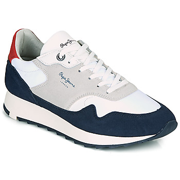 Chaussures Homme Baskets basses Pepe jeans SLAB SUMMER Marine / Blanc