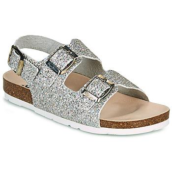 Chaussures Fille Sandales et Nu-pieds Pepe jeans BIO BASIC GLITTER Argent / Glitter
