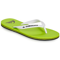 Chaussures Homme Tongs Quiksilver MOLOKAI Vert / Blanc