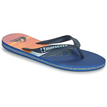 Chaussures Homme Tongs Quiksilver MOLOKAI PANEL Bleu / orange / noir