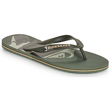 Chaussures Homme Tongs Quiksilver MOLOKAI PANEL Kaki