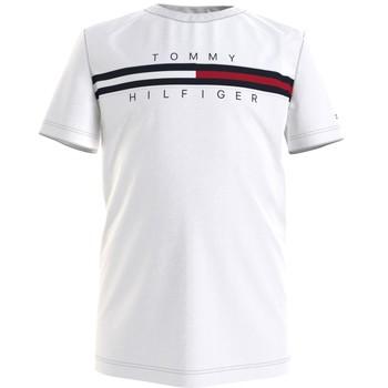 Vêtements Garçon T-shirts manches courtes Tommy Hilfiger SROUI Blanc
