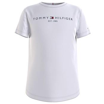 Vêtements Fille T-shirts manches courtes Tommy Hilfiger KG0KG05242-YBR Blanc