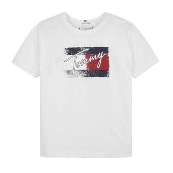 Vêtements Fille T-shirts manches courtes Tommy Hilfiger MONCHE Blanc